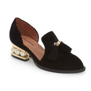 NEW Jeffery Campbell Civil Black Suede Loafer 8.5